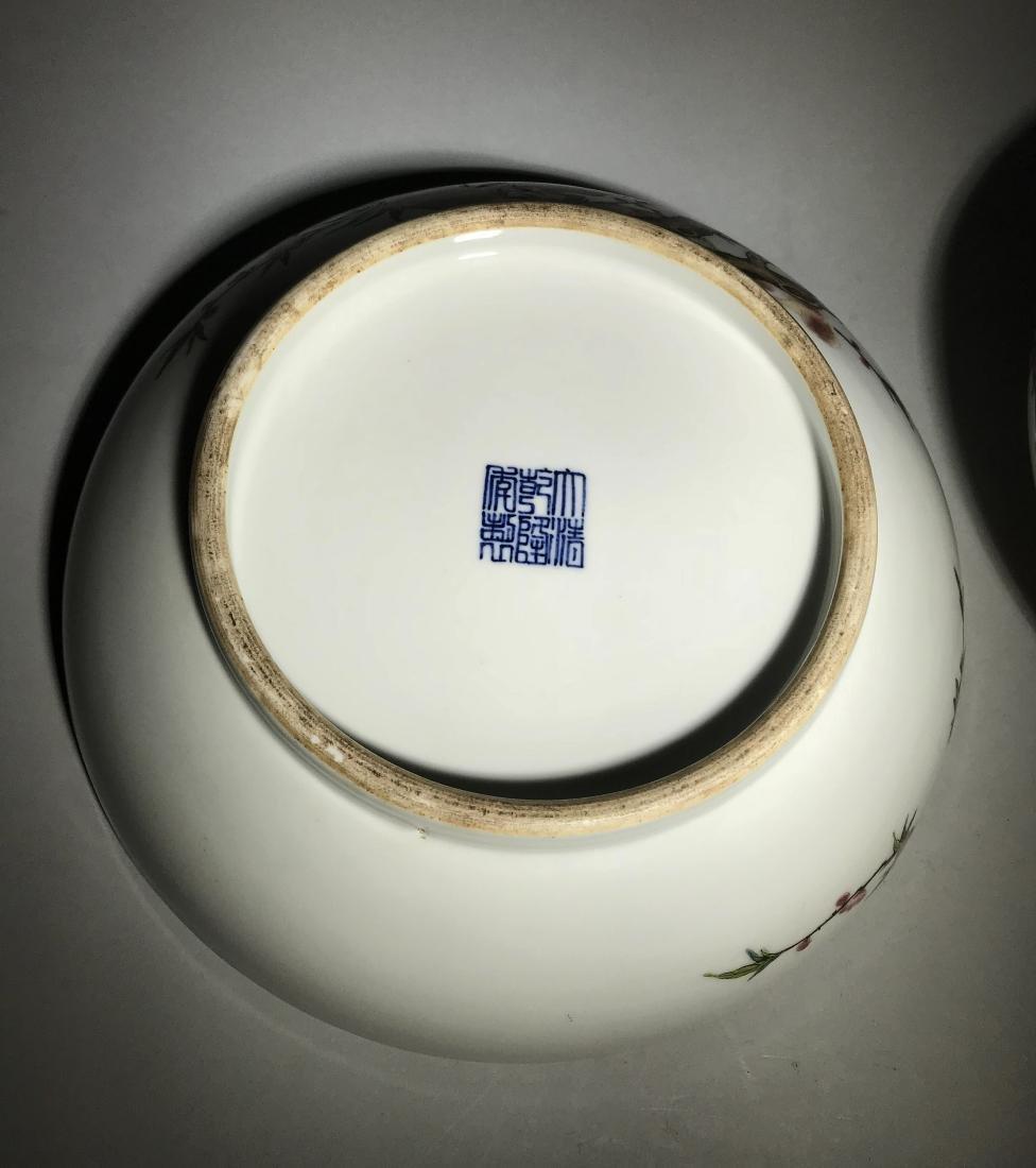 Marked Qianlong Famille Rose 'Nine Peach' Box - 7