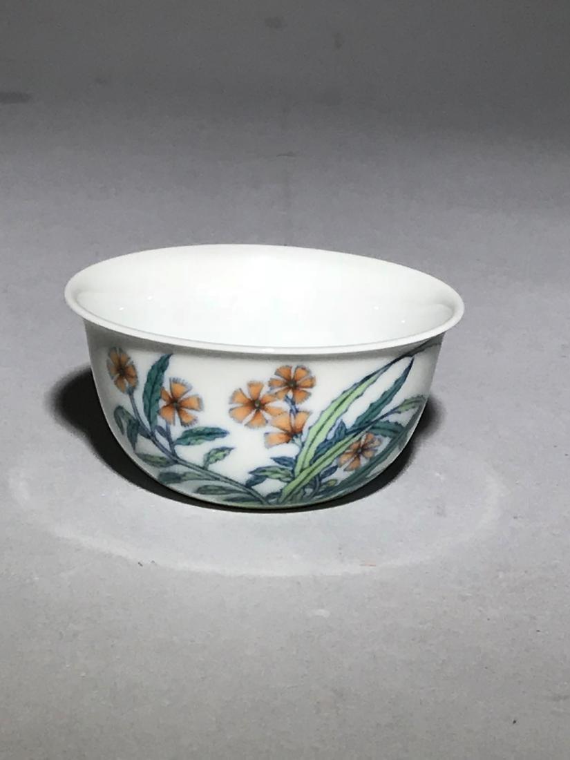 Yongzheng Marked Doucai 'Butterfly' Cup