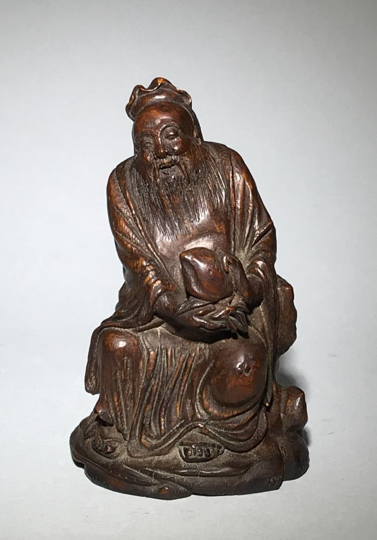 A Qing Bamboo Carved Figure