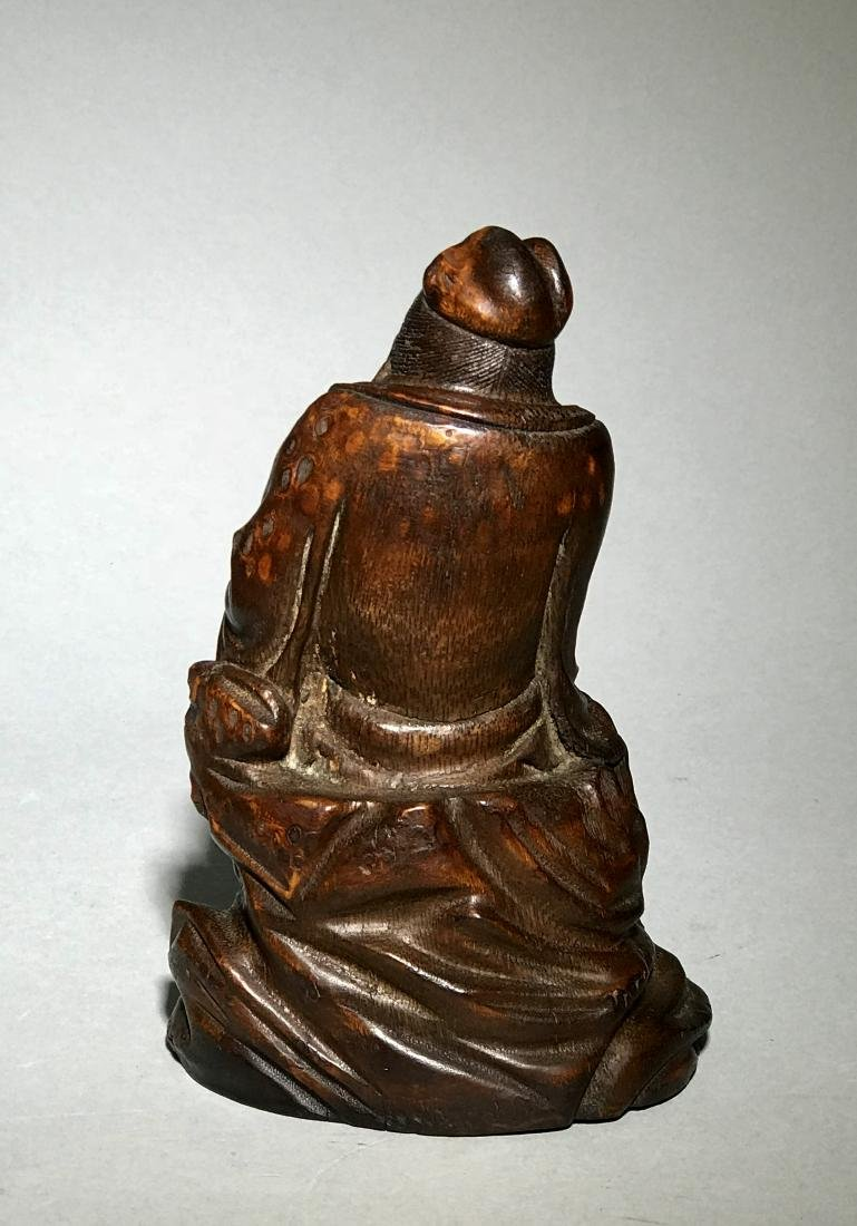 A Qing Bamboo Carved Figure - 3