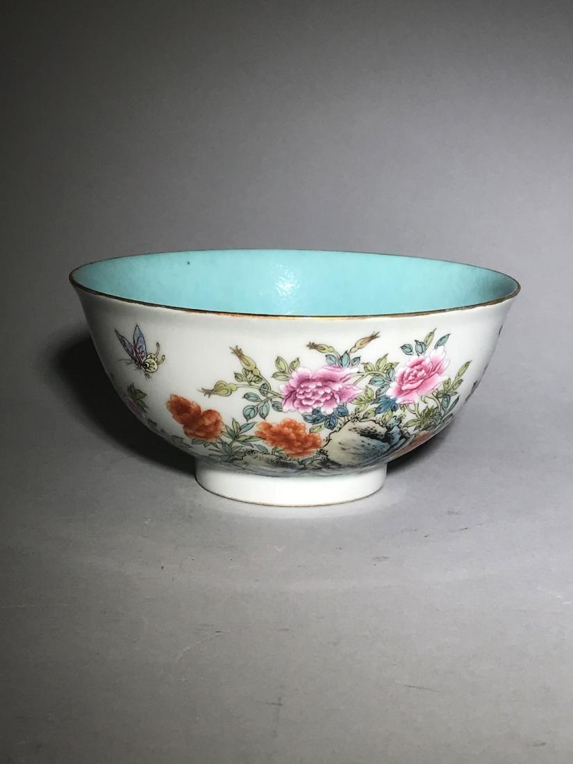 Qianlong Marked Yangcai Bowl