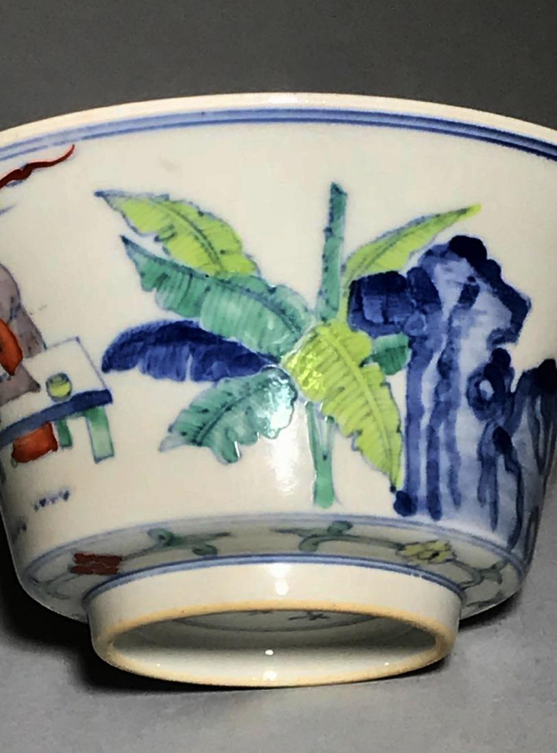 Yongzheng Marked Doucai 'Figure' Bowl - 3