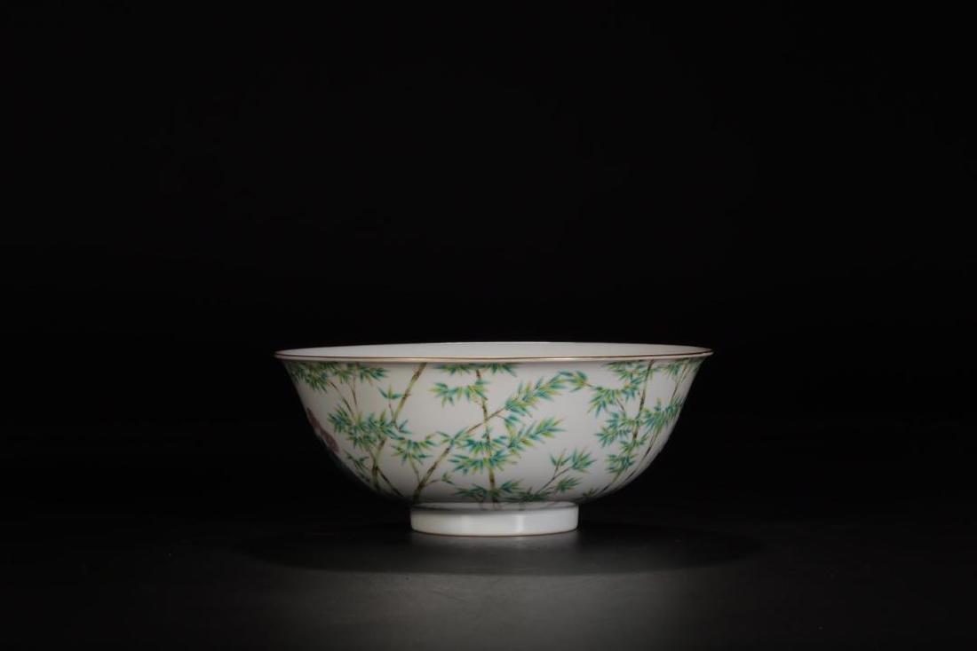 Qing Marked Large Famille Rose Bowl