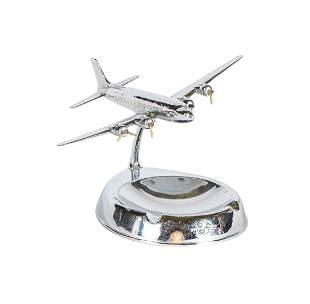 Metal Douglas Aircraft Promotional Executive Ashtray