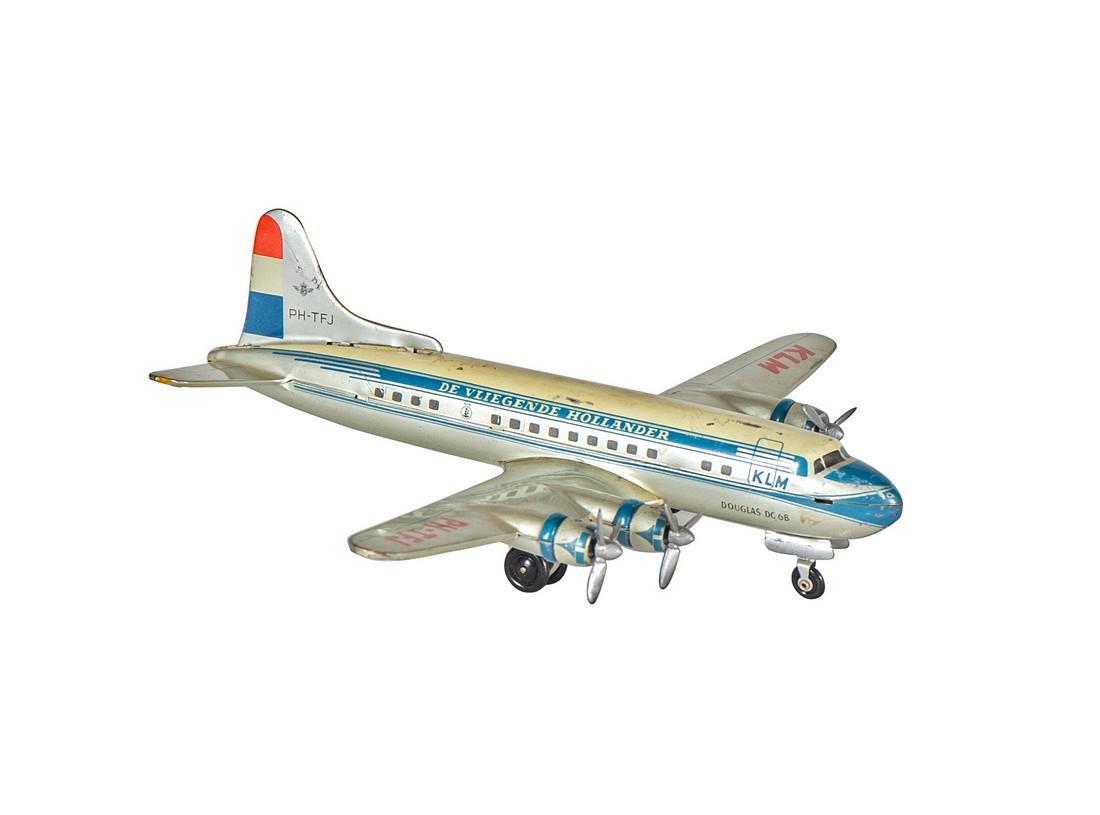 Vintage KLM Douglas DC-6B Tin Toy