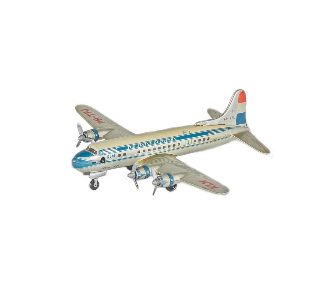Vintage KLM Douglas DC-6B Tin Toy - 2