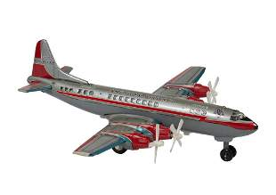 American Airlines Electra II Tin Toy Battery Op Plane