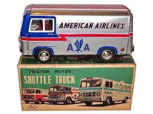 American Airlines MIB Shuttle Van Toy Japan