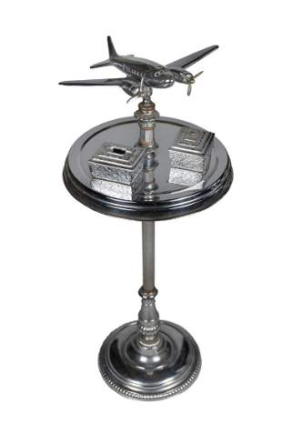 Art Deco Airline Executive Smoking Stand