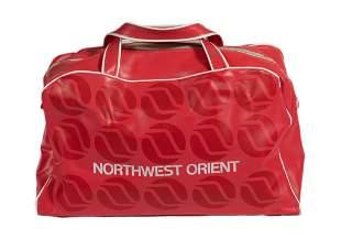 Northwest Orient Airlines -  RED FLIGHT BAG