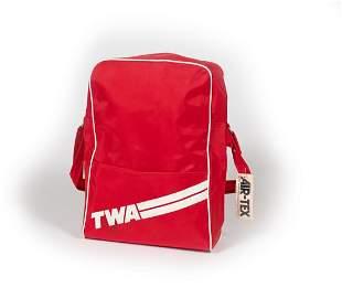 TWA - RED FLIGHT BAG  (AIRTEX wt Tag)