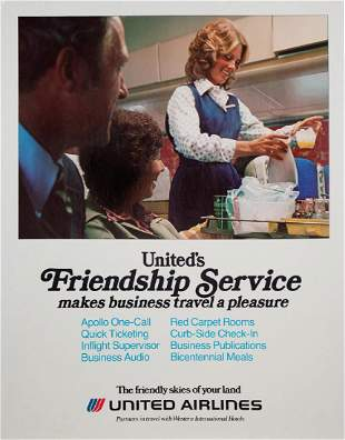 """United Airlines """"Friendship Service"""" Ticket Counter"""