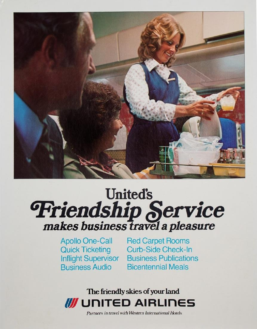 "United Airlines ""Friendship Service"" Ticket Counter"