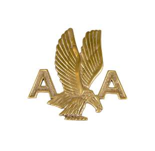 American Airlines Brass Wall Plaque