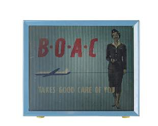 BOAC Illuminated Lenticular Travel Agency/Ticket