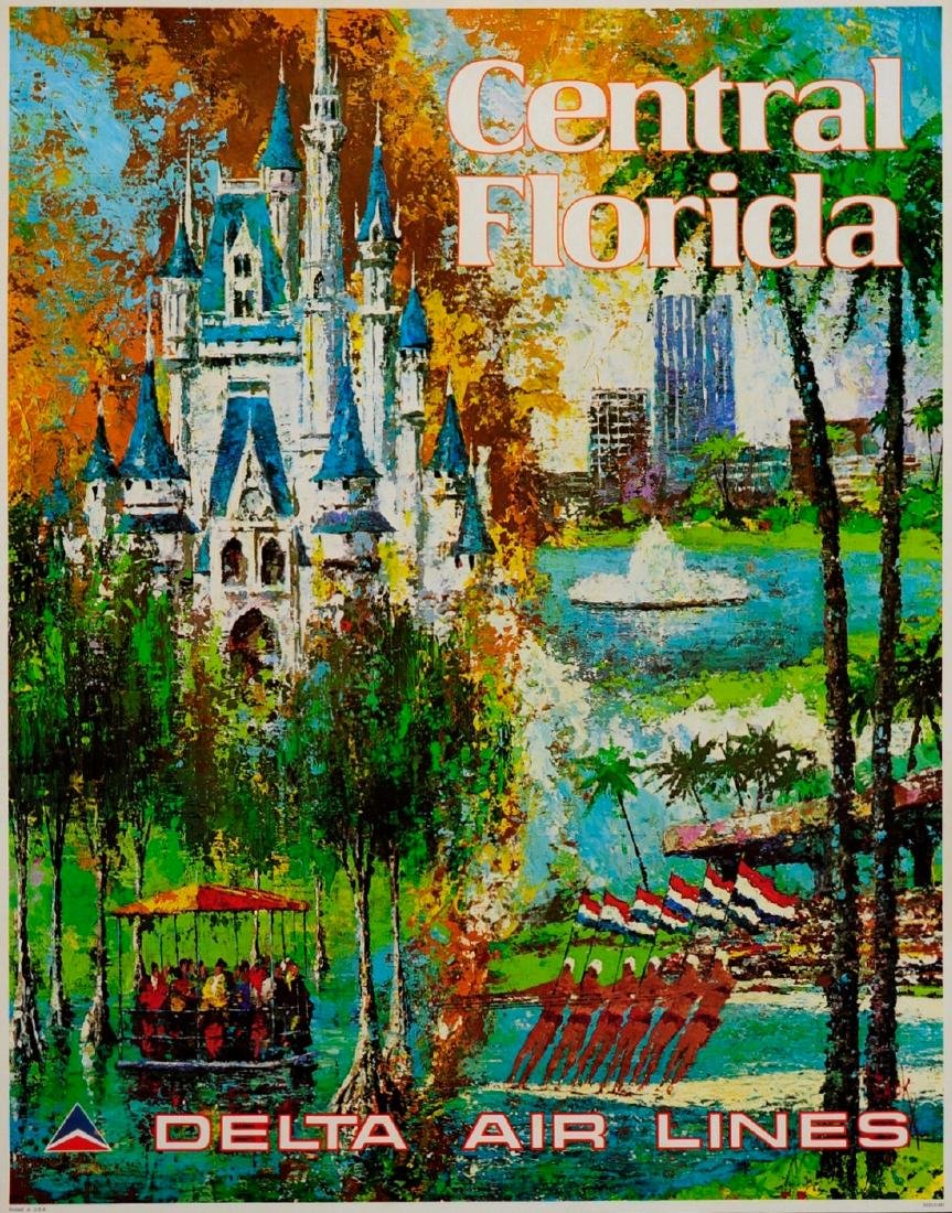 Delta CENTRAL FLORIDA Disney World Poster