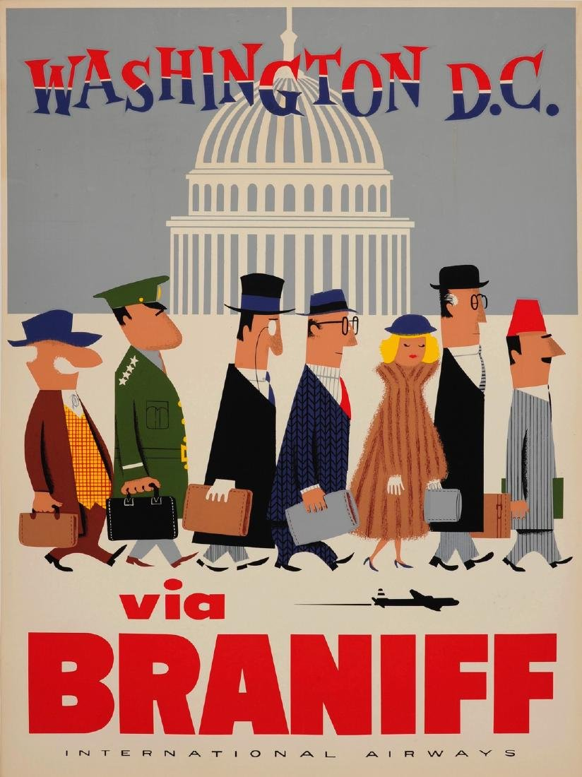 "Braniff WASHINGTON, DC ""The Capitol"" Poster"