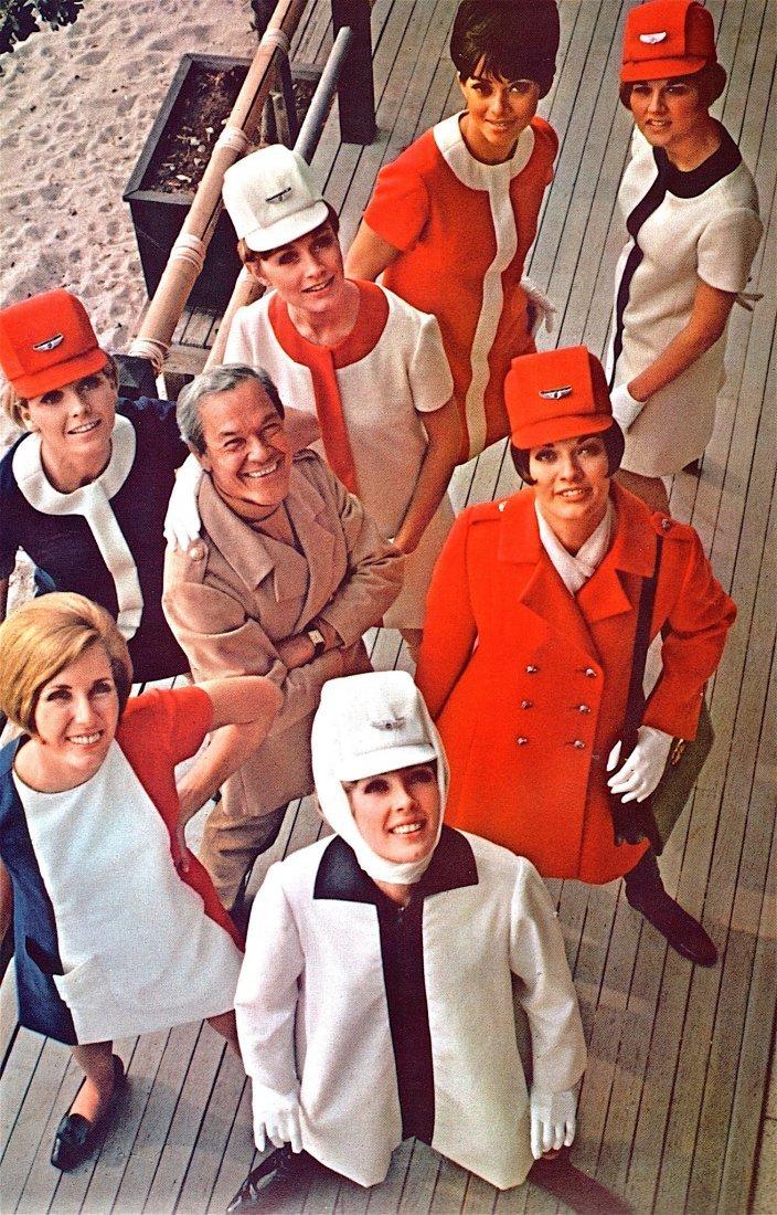 United Airlines 1968-1970 Jean Louis Stewardess - 3