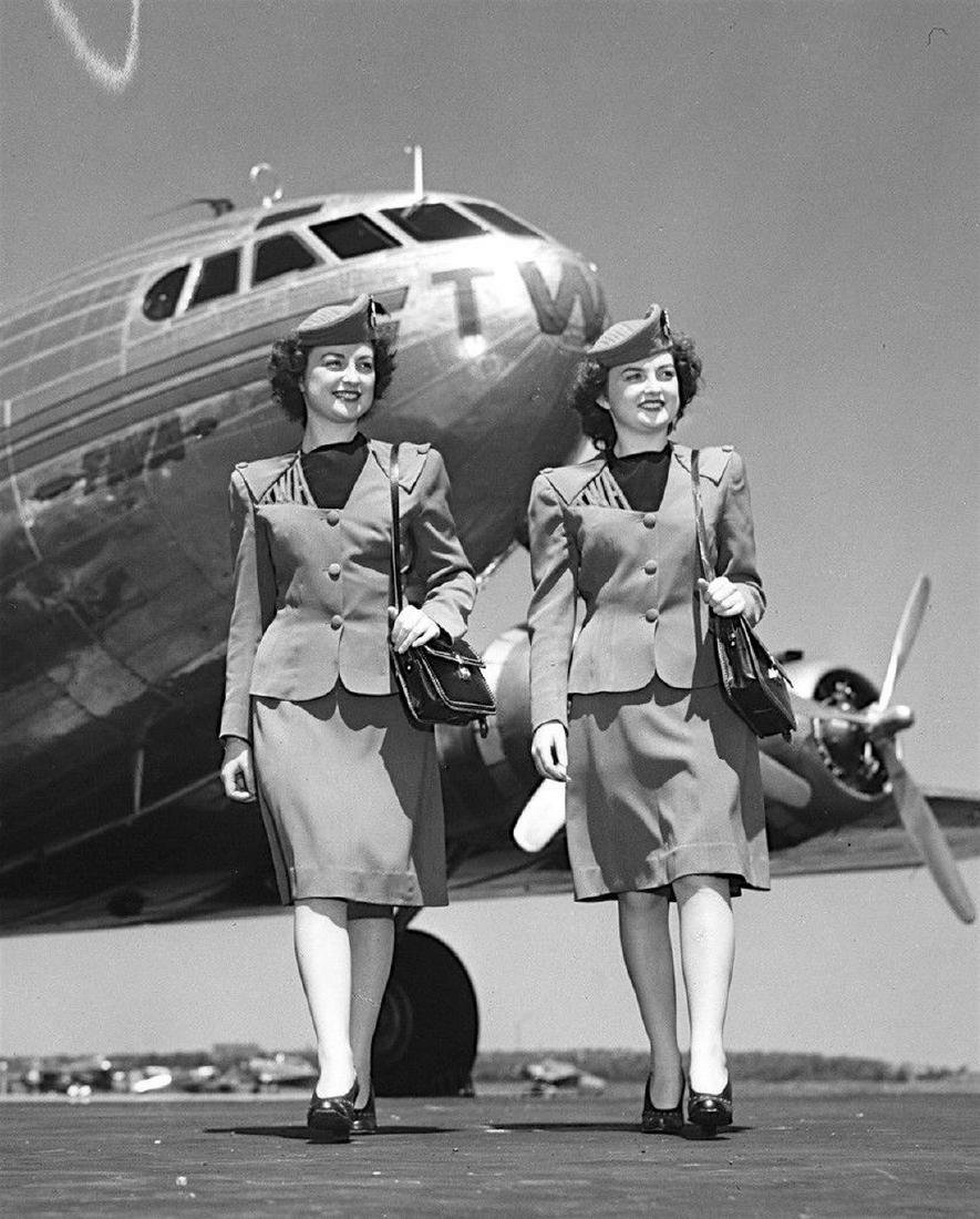 "TWA Iconic 1944-1955 Complete ""Cut Out"" Stewardess - 6"