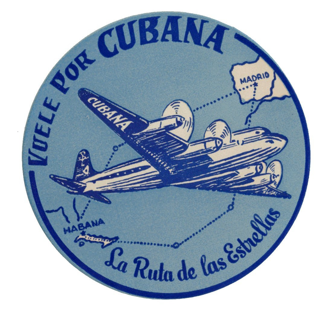 CUBANA Airlines Luggage Decal