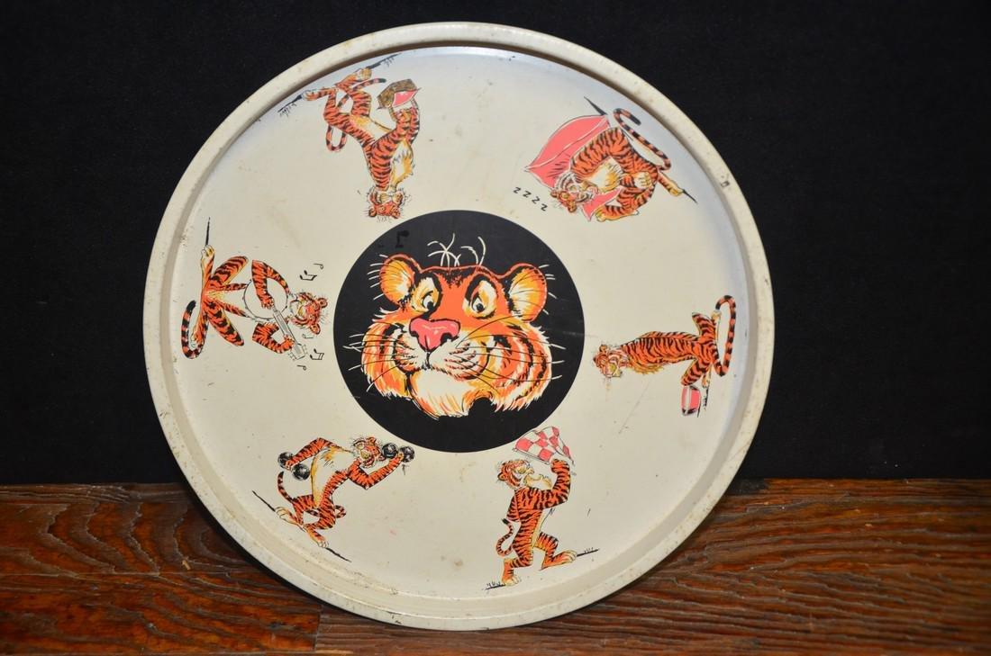 Vintage Esso Tiger Metal Tray