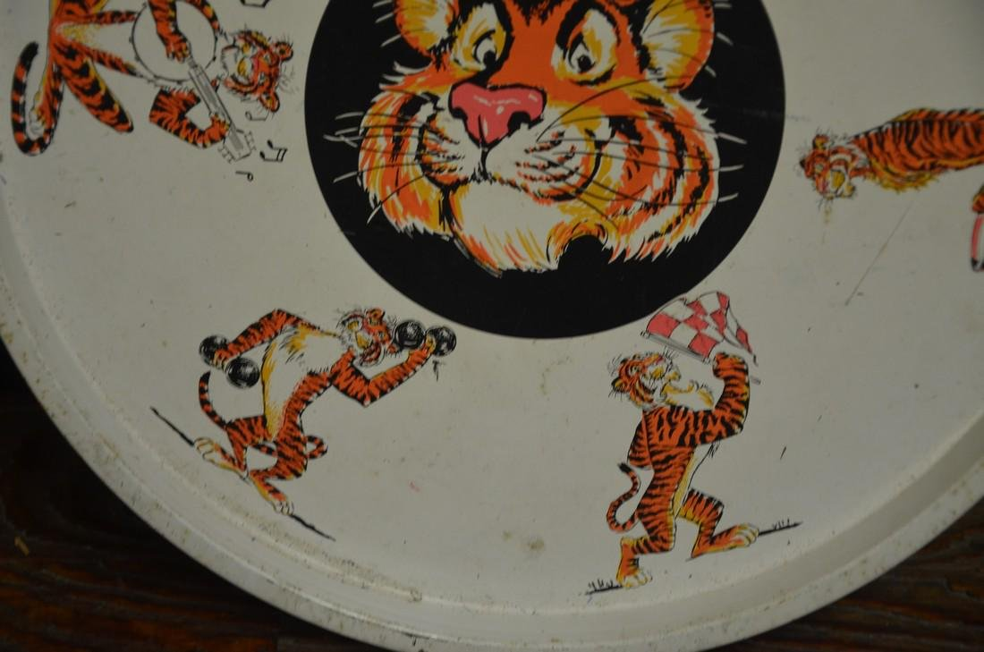 Vintage Esso Tiger Metal Tray - 2
