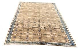 """Turkish  Old Oushak Carpet Rug 5'4"""" x 8'8"""""""