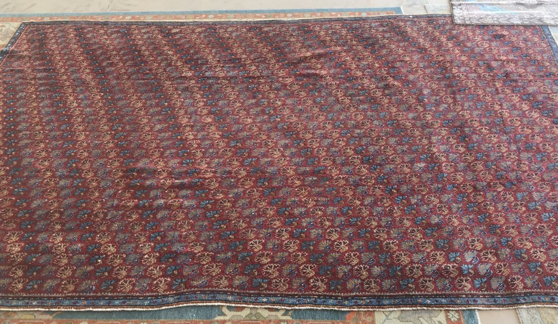Old Turkish Antique Oushak Rug Carpet