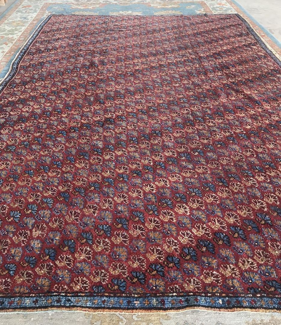 Old Turkish Antique Oushak Rug Carpet - 3