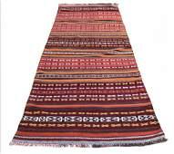 """Persian Kilim Wool Runner Rug Carpet 3'9"""" x 10'1"""""""