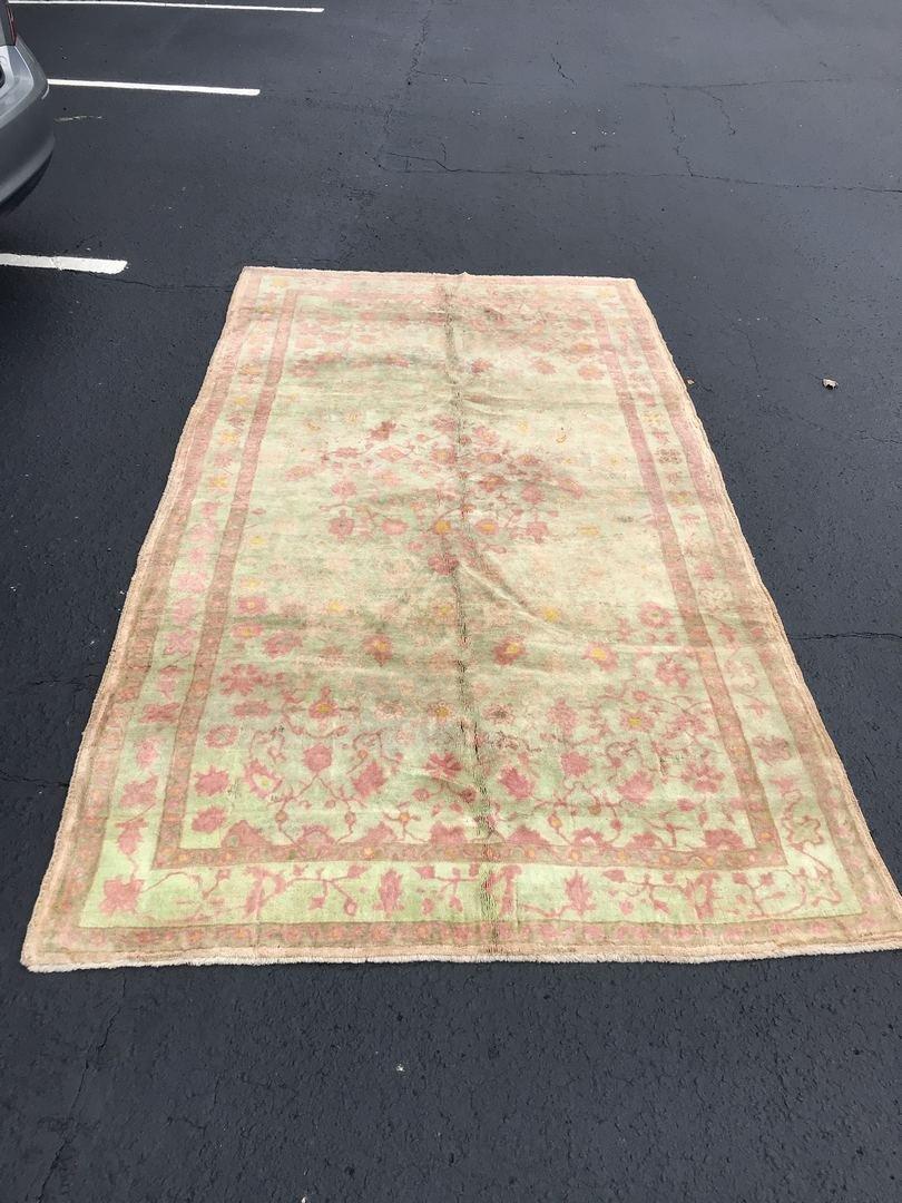 """Old Turkish Oushak Rug Carpet 5'6"""" x 9'6"""""""
