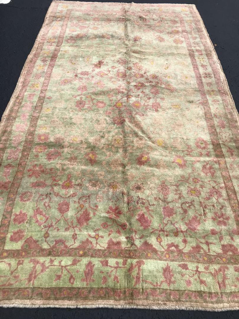 """Old Turkish Oushak Rug Carpet 5'6"""" x 9'6"""" - 2"""