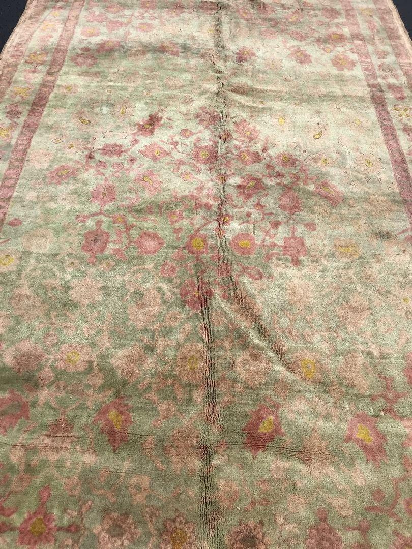 """Old Turkish Oushak Rug Carpet 5'6"""" x 9'6"""" - 3"""