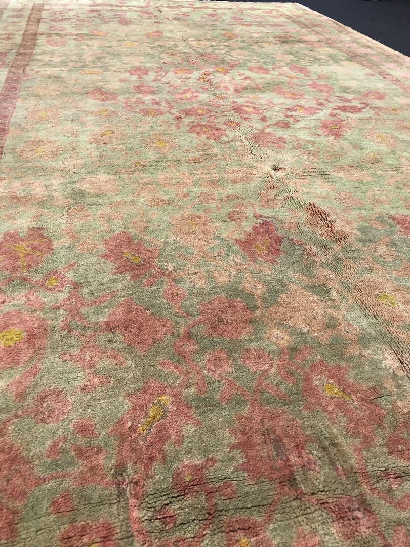 """Old Turkish Oushak Rug Carpet 5'6"""" x 9'6"""" - 4"""