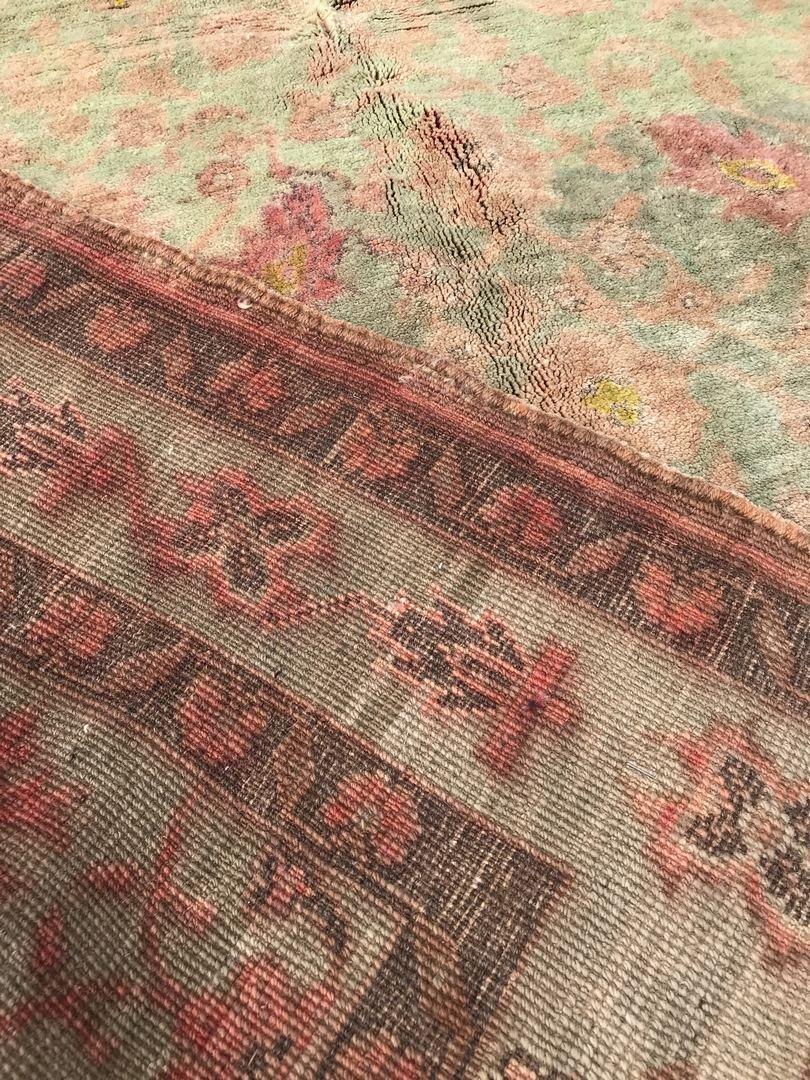 """Old Turkish Oushak Rug Carpet 5'6"""" x 9'6"""" - 5"""