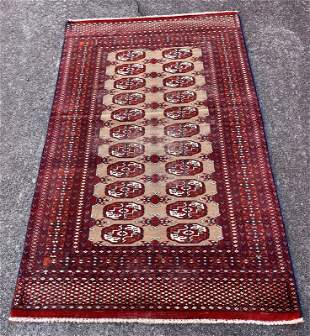 """Vintage Afghani Wool Rug 2'11"""" x 4'7"""""""