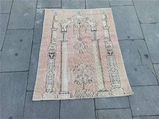 "An Old Turkish Konya Wool Prayer Rug 2'7"" x 3'4"""