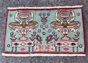 """A Small Vintage Persian Rug 2'7"""" x 1'6"""""""