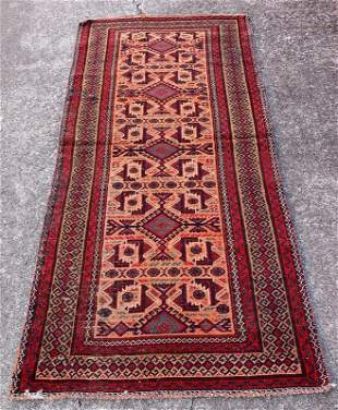 """An Old Persian Wool Cotton Rug 3'1"""" x 6'6"""""""