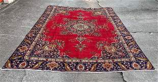"""Persian Large Wool & Cotton Room Size Rug 9'1"""" x 12'8"""""""