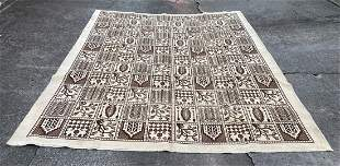"""Large Persian Light Background Old Rug 9' x 13'3"""""""