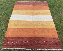 Persian Gabbeh Wool Rug 4'6 x 6'5