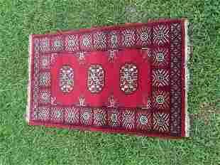 """Afghani Small Bukhara Rug 2' x 3'2"""""""