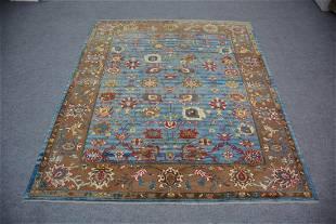 "Turkish Pure Wool Handmade Oushak Rug 5'11"" x 7'"