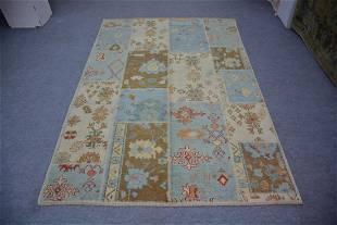 """Turkish Natural Dye Oushak Wool Rug 6'5"""" x 9'5"""""""