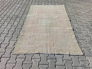 "An Old Turkish Light Background Wool Rug 4'4"" x 6'11"""
