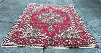 "Vintage Persian Large Wool & Cotton Rug 9'4"" x 12'7"""