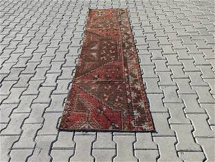 """An Old Turkish Small Runner Rug 2'2"""" x 7'8"""""""