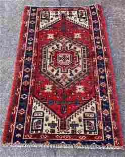 "Vintage Persian Medallion Rug 2'9"" x 4'4"""