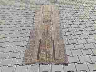 "Turkish Patch Pure Wool Runner Rug 2'8"" x 8'4"""